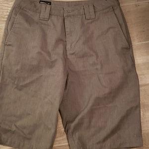 Men's O'NEIL Charcoal shorts; size 29; LIKE NEW